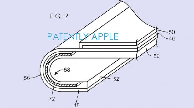 Apple curved flexible display patent