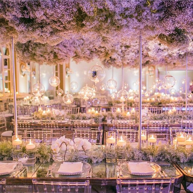 "Evening Wedding Reception Decoration Ideas: Wow ""Fantasy #regramLove @HessWhiteLilacInc @whitelilacinc"