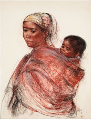 Mother & Child // Africa // Drawing //
