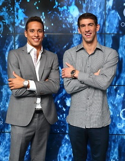 Chad Le Clos & Michael Phelps