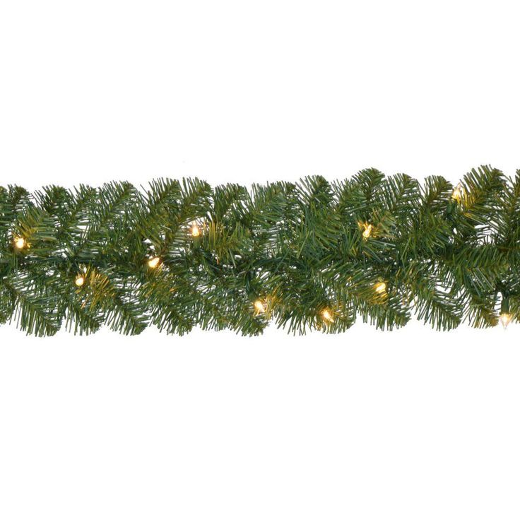 Home Accents Holiday 18 ft. Pre-Lit Noble Fir Garland with 100 Lights