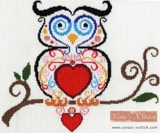 Owl in swirls