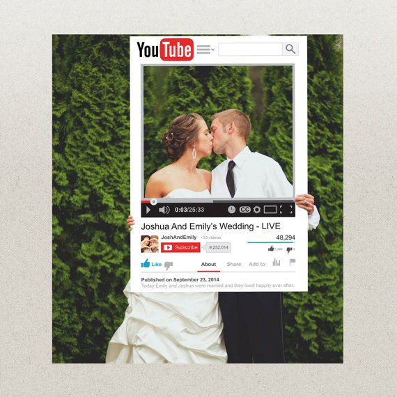 Birthday or Wedding Photo Prop YouTube by CreativeUnionDesign, $28.00