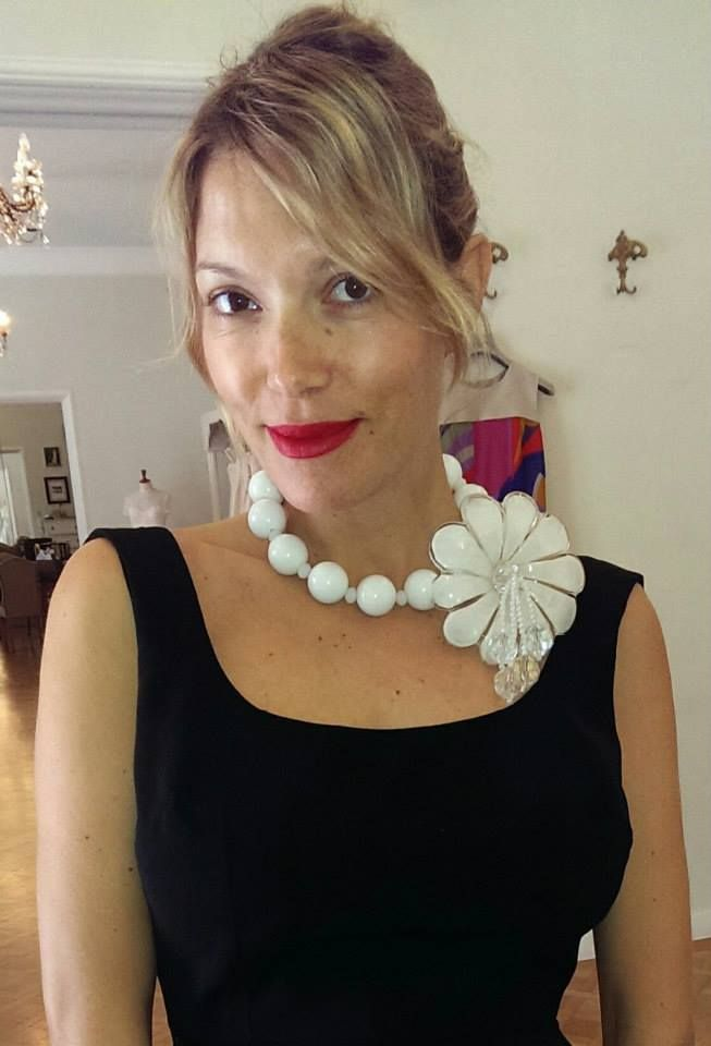 Vicky Kagia wearing Vassilis Zoulias dress and Pericles Kondylatos necklace!