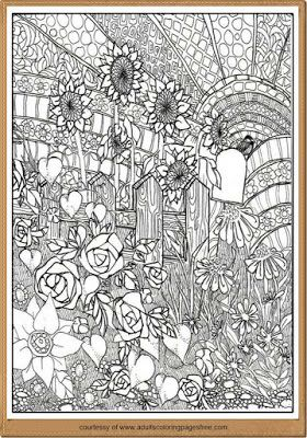 Free Nature Landscape Adults Coloring Pages