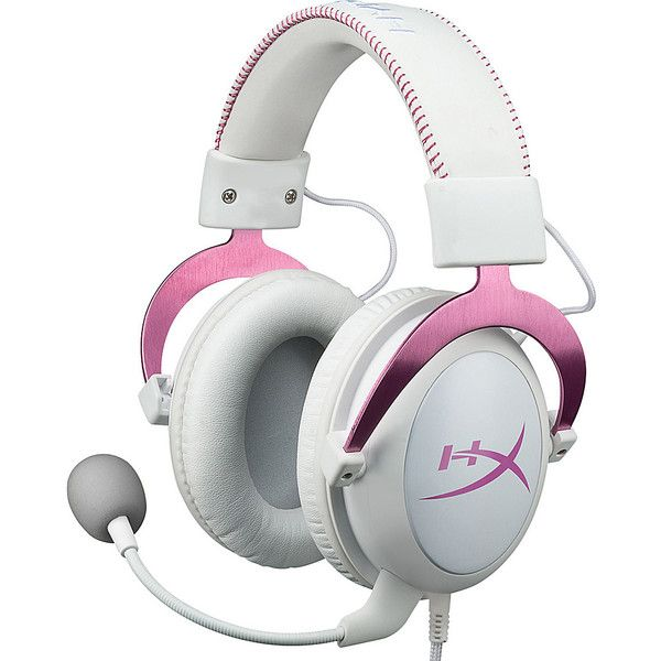 Kingston Hyperx Cloud Ii Headset With Usb Audio Control Box ($150) ❤ liked on Polyvore featuring pink