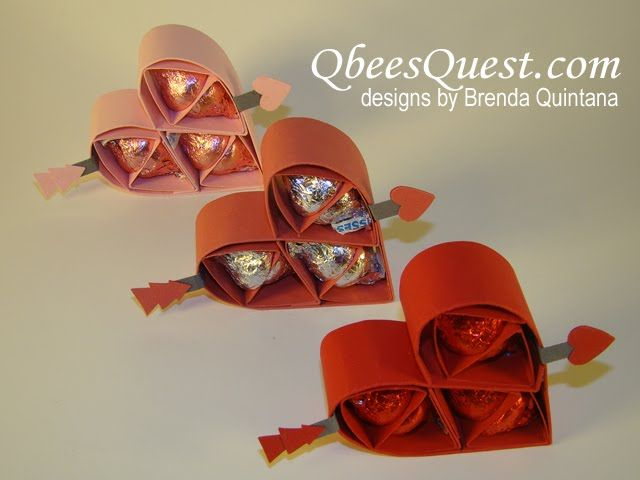 Qbee's Quest: Hershey's Kisses Valentine's Heart Tutorial