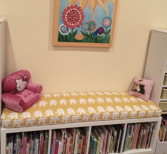Ikea Expedit Replacment KALLAX  Custom Cushion Playroom , Nursery, Organzation Bench Seat