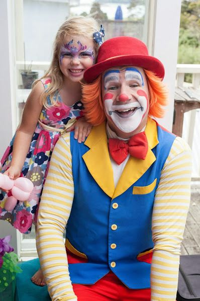 Kids love Cornflake the Clown from Cornflake's Magic World.