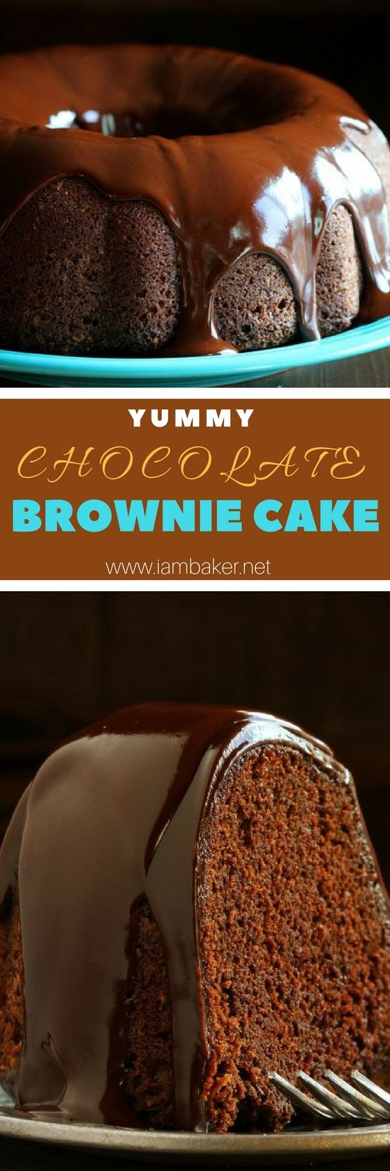 Chocolate Fudge Brownie Cake, looks amazing and easy to do! Try it now!