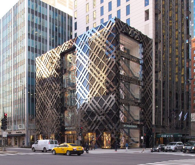 Burberry Store in Chicago....love me some Burberry (: their purses and trench coats are my favorites (:
