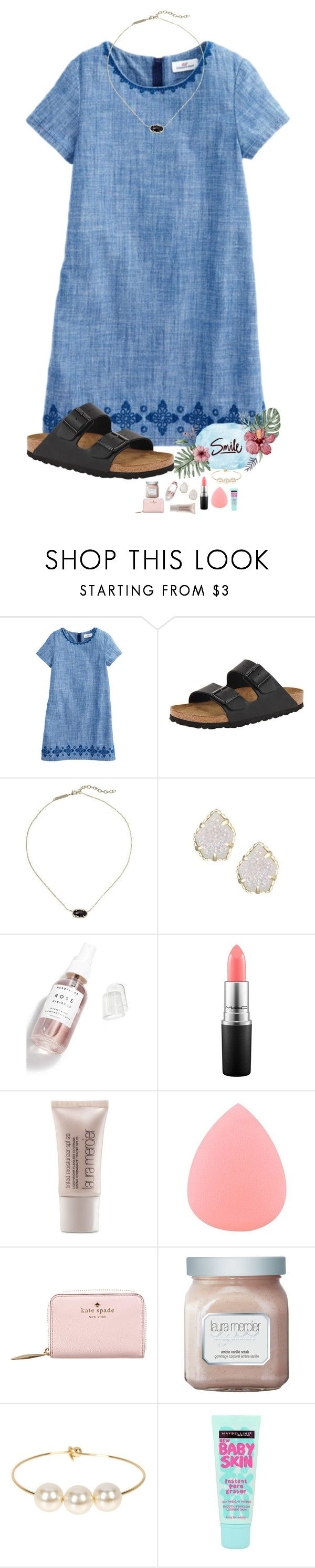 """Smile it looks good on u"" by kolbee24 ❤ liked on Polyvore featuring beauty, Birkenstock, Kendra Scott, Herbivore, MAC Cosmetics, Laura Mercier, Zodaca, Kate Spade, Jules Smith and Maybelline"
