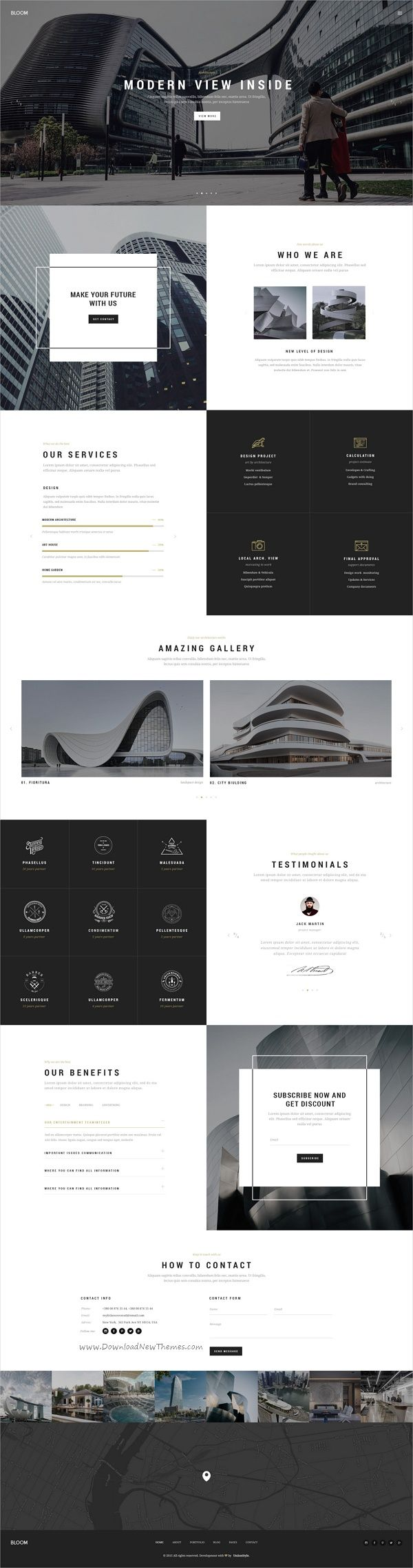 Bloom is minimal & creative #Photoshop template for freelancers, #architect #agency, portfolio & photographers websites download now➩ https://themeforest.net/item/bloom-multipurpose-one-multi-page-psd-template/17723527?ref=Datasata