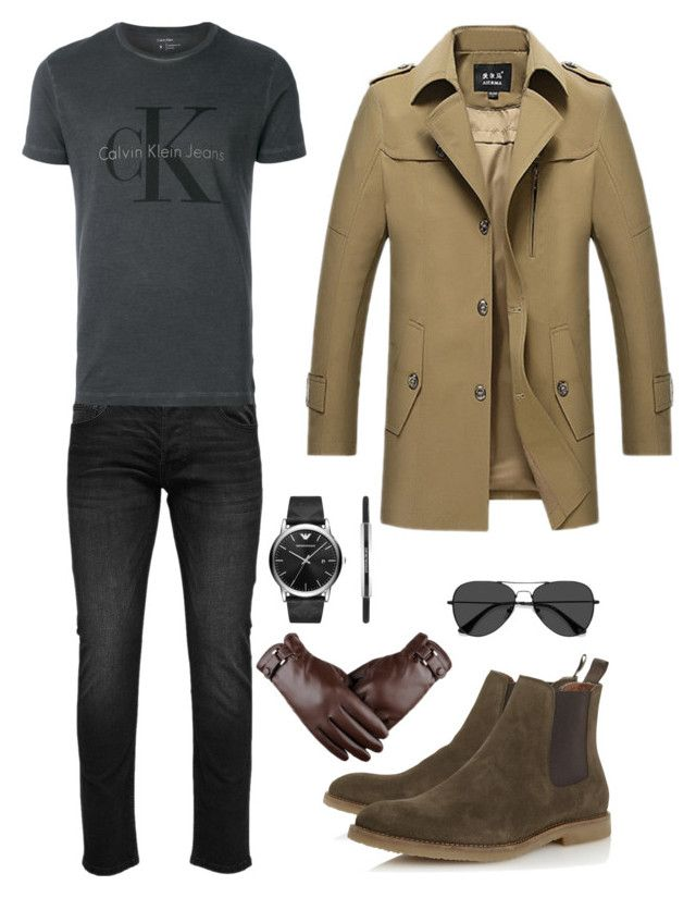 """Winter is Coming"" by saffaatun on Polyvore featuring Only & Sons, Calvin Klein, Dune, Emporio Armani, EyeBuyDirect.com, men's fashion and menswear"
