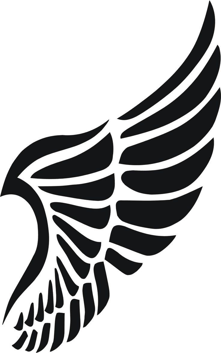 Eigenmarke Stencil Schablone Flügel