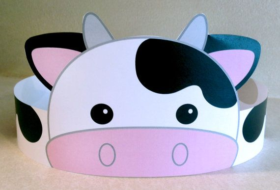 Cow Paper Crown Printable by PutACrownOnIt on Etsy