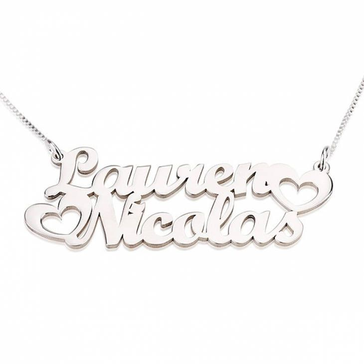 Excited to share the latest addition to my #etsy shop: Two Name Necklace Sterling Silver 925 - Custom Name Necklace - Personalized Name Jewelry - Christmas Gift http://etsy.me/2AGNqjB #jewelry #necklace #silver #no #women #yes #stainlesssteel #hook #female