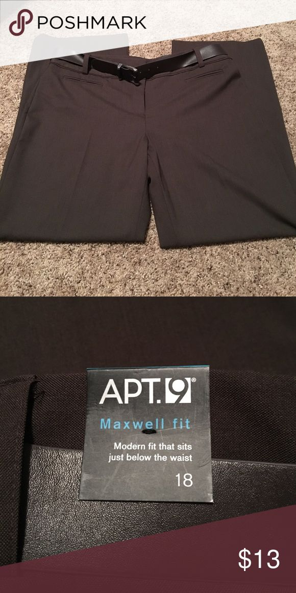 Brown slacks with belt Brand new with tags. Apt. 9 Pants Trousers
