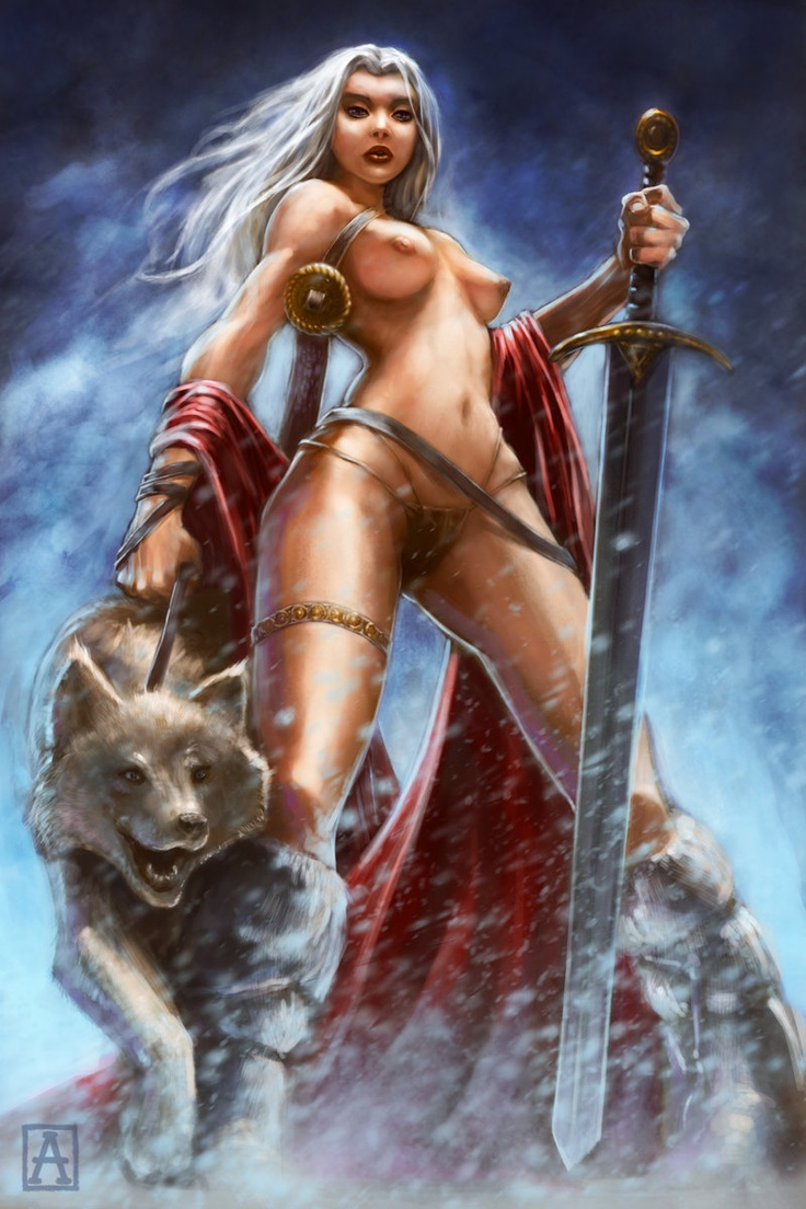 Wallpaper sexy woman art nude fantasy warrior