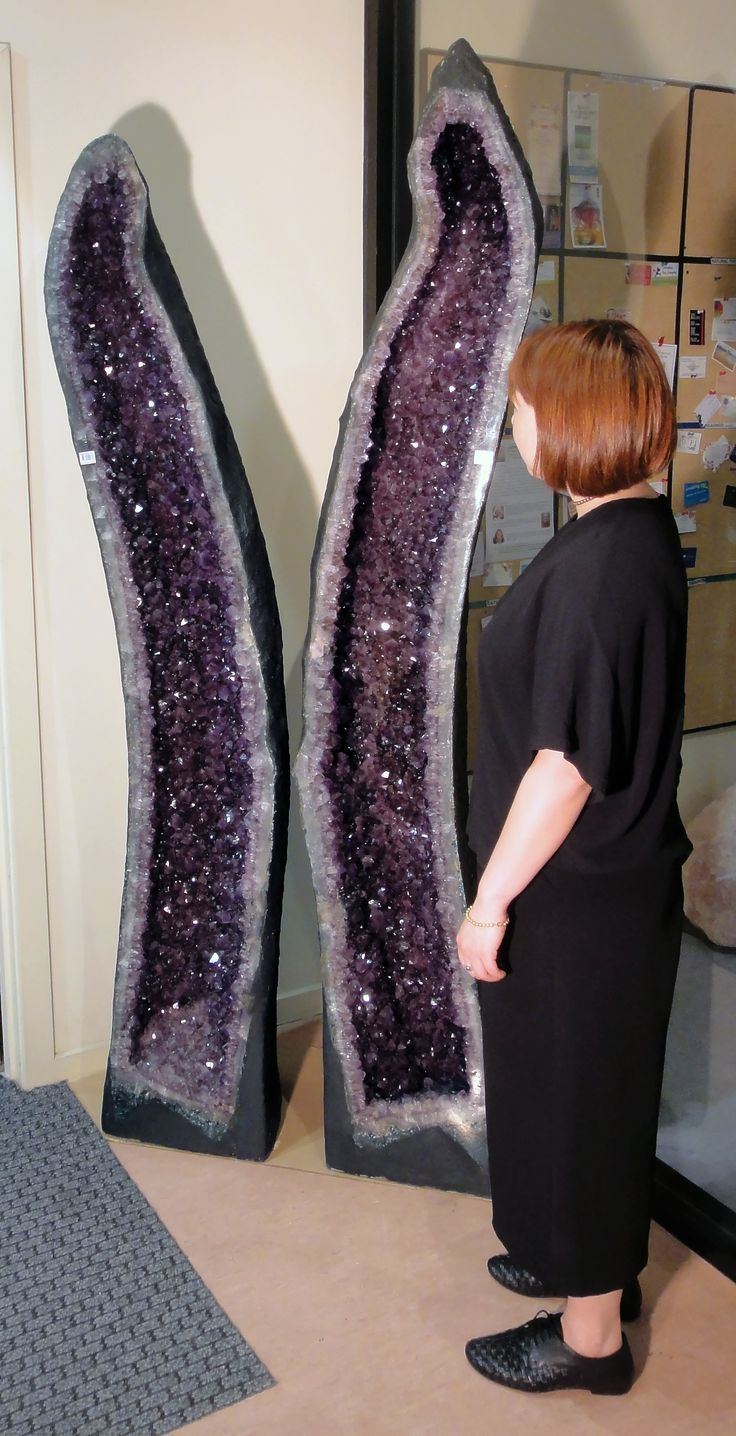 ARE THESE THE BIGGEST AMETHYST CAVE PAIR IN AUSTRALIA? Drop in to our Melbourne Showroom and see for yourself!