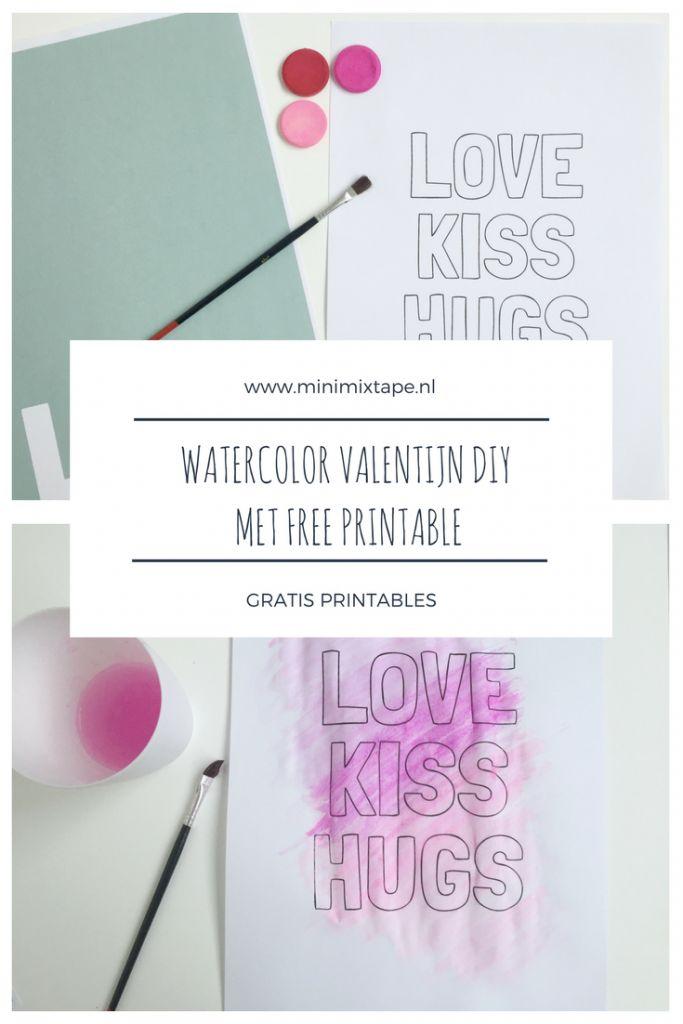 Valentijn DIY met gratis printable.