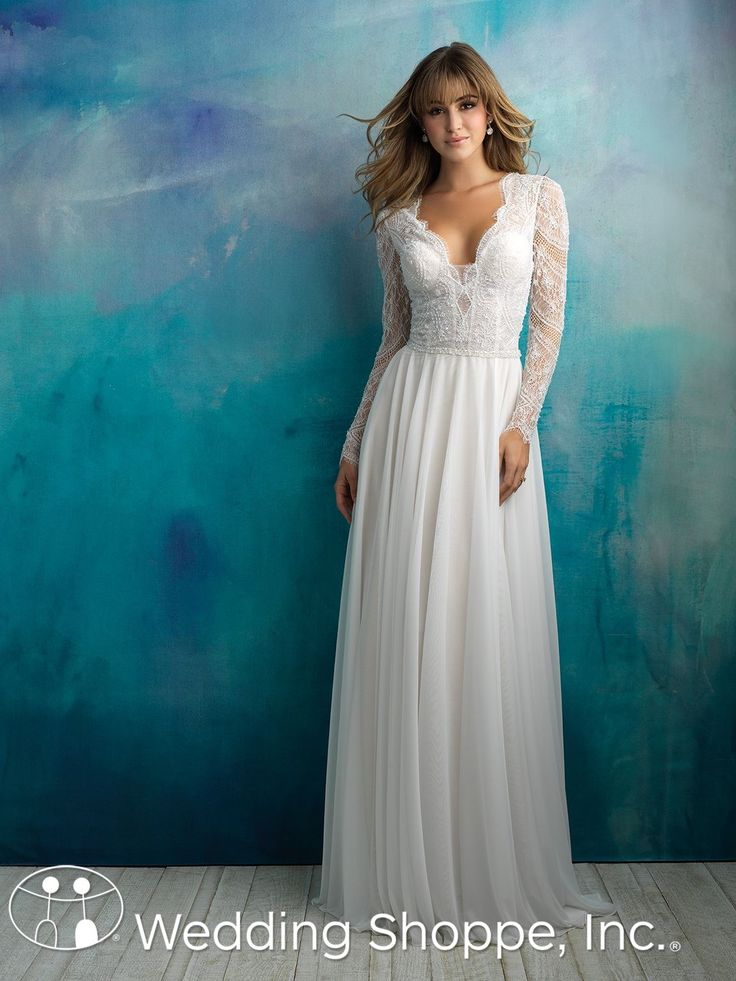 Long sleeve, lace bridal gown | Allure | Wedding Shoppe, Inc.