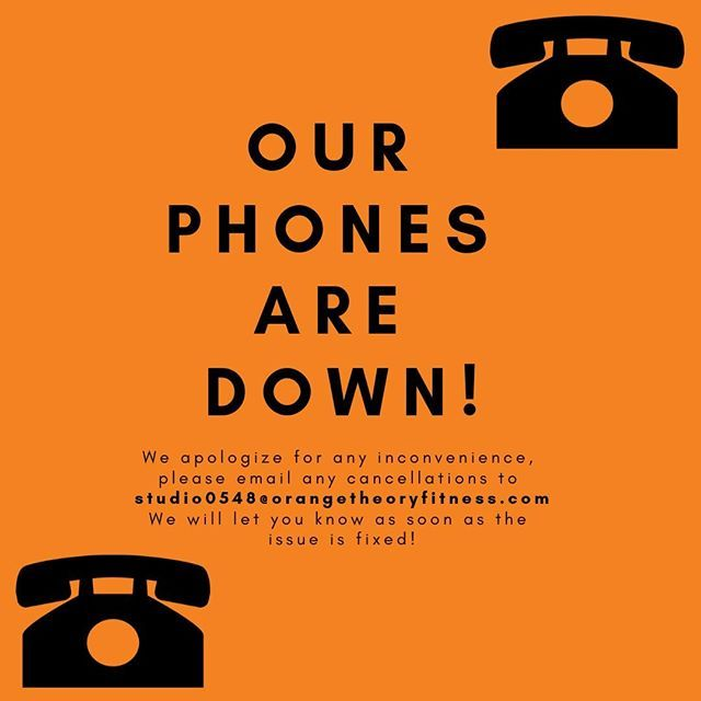 Our phones are temporarily out of service! Please email any