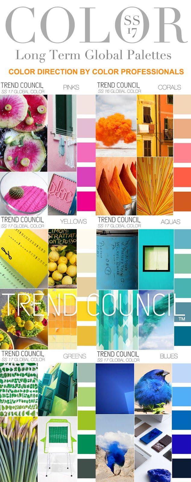 TRENDS // TREND COUNCIL - GLOBAL COLOR DIRECTION . SS 2017