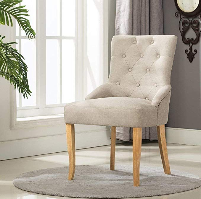 Mcc Linen Fabric Accent Chair Dining Chair For Home Commercial
