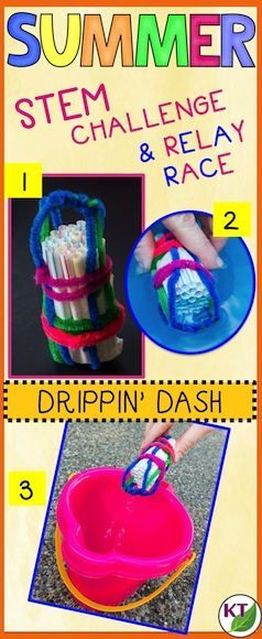 Keep your kids engaged through the end of the school year! In this challenge, students work with partners/groups to design and build a water scoop purpose-built for volume and stability to be used in a relay race: The Drippin' Dash. Includes modifications and handouts for grades 2 - 8.
