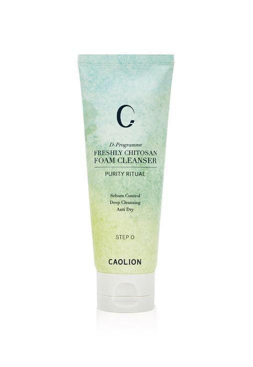 caolion D-programme freshly chitosan foam cleanser 110ml sebum control anti dry #caolion