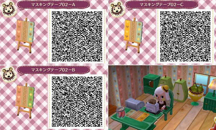 Animal Crossing New Leaf Wallpaper And Flooring Qr Codes