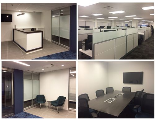 Here's a custom reception desk and Altos wall system we recently installed. This project also included workstations, networking tables, seating and all the final touches!