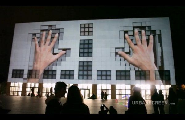 #projectionmapping turns your urban structure into a cool display. Imagine the possibilities! #nextnow