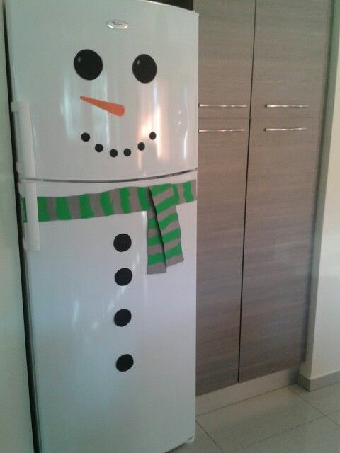 A Snowman in the kitchen!!!