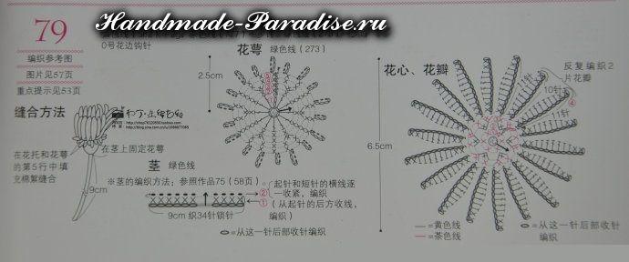 Схемы вязания крючком цветов можно использовать для вязания брошек и других аксессуаров для украшения одежды. Для вязания цветов понадобится пряжа и крючок