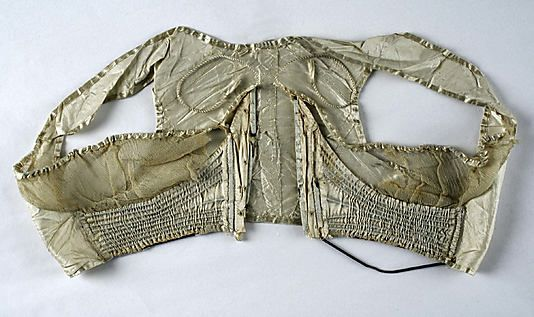 Corset  Date: 1805–10 Culture: French (probably) Medium: silk, metal, baleen