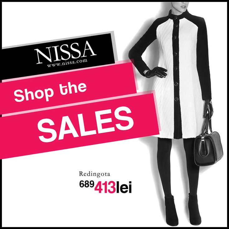 www.nissa.com #nissa #redingota #sale #reducere #soldare #offer #promotion #coat #bw #fashion #style #look