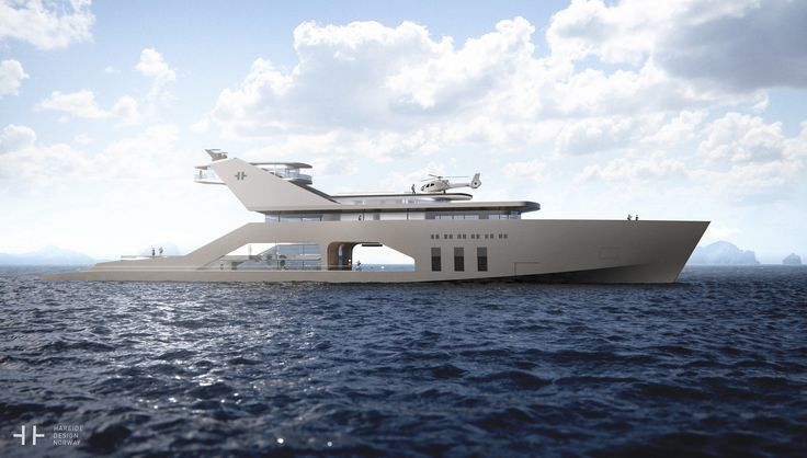 Private beach on concept super yacht designed by Hareide - DesignCurial