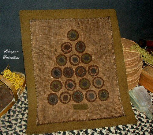 Xmas Penny Rug 19 Penny's Sold by bluejeanprimitives, via Flickr