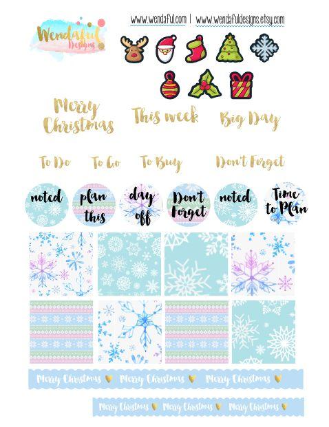 Free Christmas Planner Stickers | Wendaful Designs