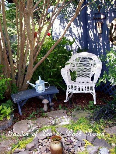 A shady garden nook (Garden of Len & Barb Rosen)