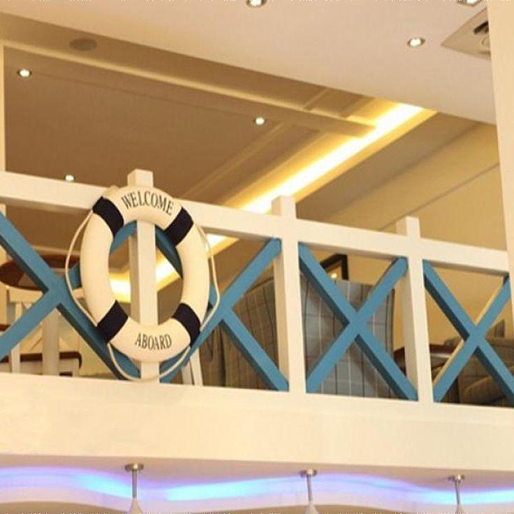 1Pc Lifebuoy Life Ring Preserver Nautical Boat Float Marine Wall Hanging Decoration