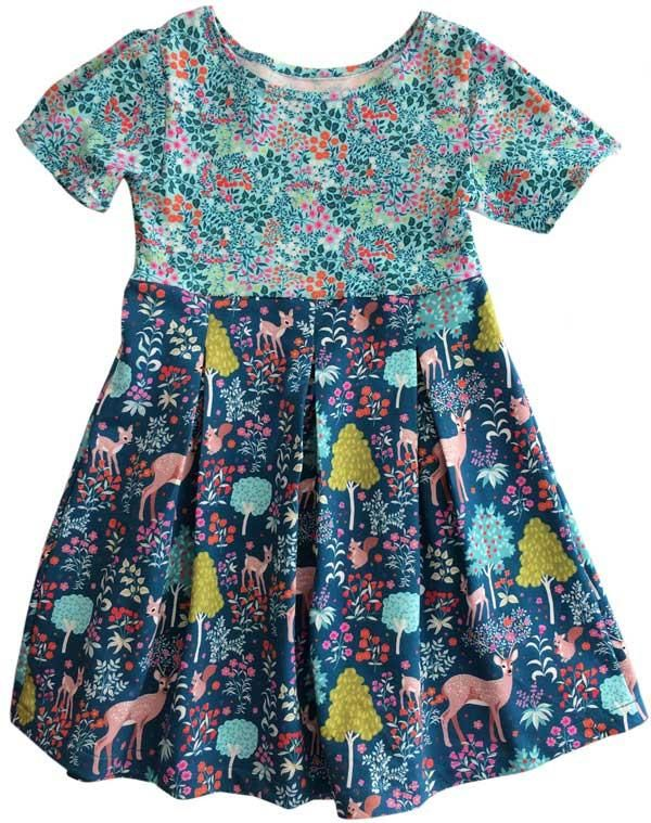 Sew a beautiful PIA dress with box pleats around the skirt and shoulders. Sewing for beginners! PDF pattern only 6 USD. Instant download. Your Zierstoff Team!