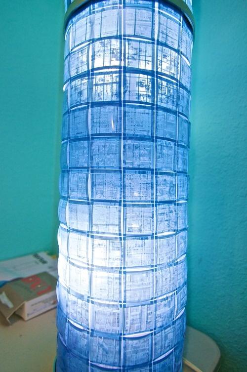 Ikea Hack: #DIY Microfilm Lamp ~$50