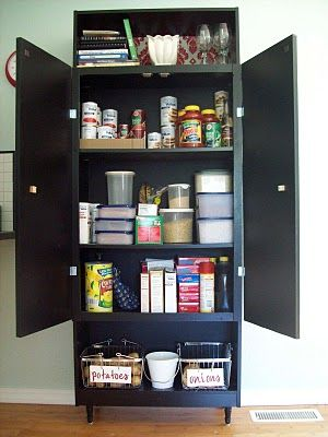 Was planning on making our bookcase our pantry in the new house. Now I can add doors!!!