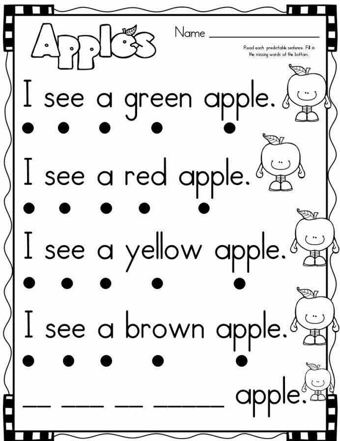 Easy Reading Worksheets For Preschoolers New September Themed Simple Predictable Senten Reading Worksheets Kindergarten Reading Worksheets Kindergarten Reading Literacy worksheets for kindergarten
