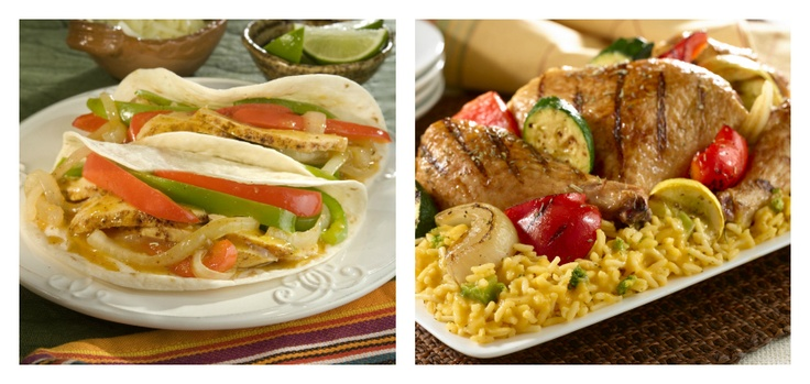 What would you rather have for dinner tonight? Find Chicken Fajitas at http://www.knorr.ca/recipes/detail/14459/1/chicken-fajitas and Grilled Chicken Over Rice at http://www.knorr.ca/recipes/detail/14443/1/grilled-chicken-veggies-over-rice