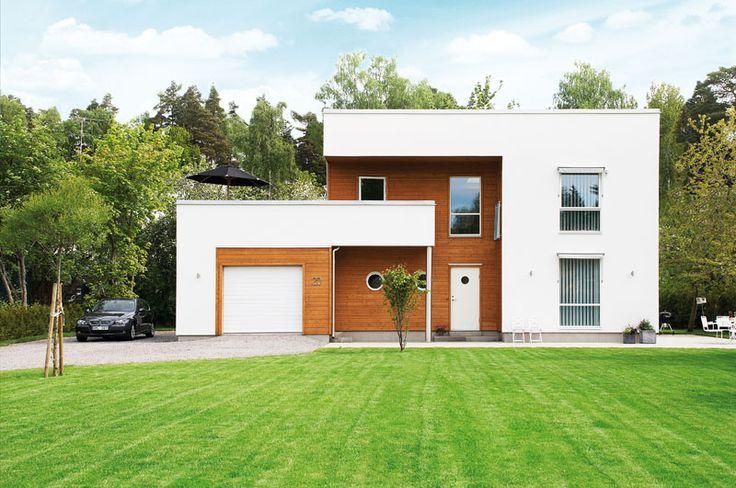 Geometriska former inbäddad i grönska | Vårt Nya Hus