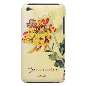 Classic vintage ukiyo-e chrysanthemum butterfly iPod touch case #Classic #vintage #ukiyo-e #chrysanthemum and #butterfly unique #gifts from #Zazzle #Japan #japanese #oriental #flower #gift #customizable